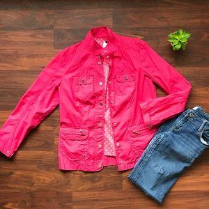 Jones New York Signature Pink spring jacket size M